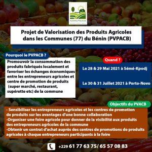 Projet de valorisation des produits agricoles