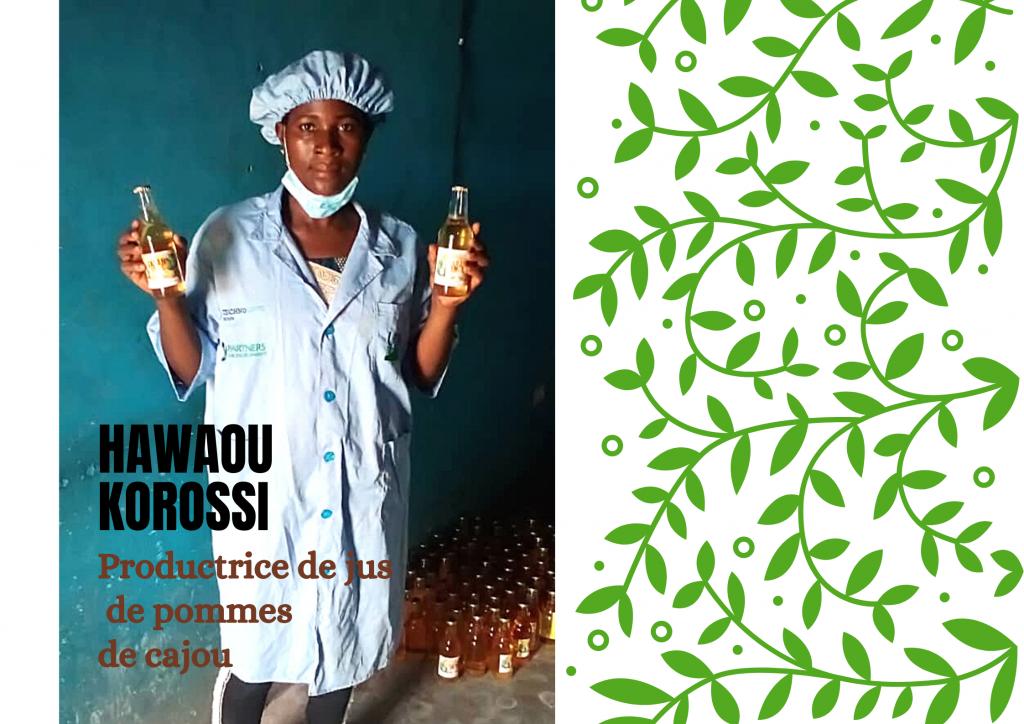 Hawaou korossi, Productrice de jus de pommes de cajou